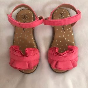 Cat and Jack Pink Sandals Sz 9 (Toddler)